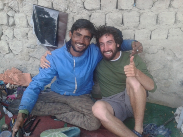 With a cobbler in Leh