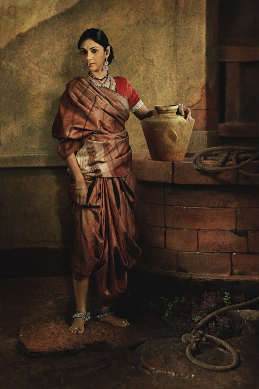 Rohit Chawla, A Mysore Lady near the Well, featuring Aditi Rao Hydari.  Archival pigment print. Courtesy Tasveer