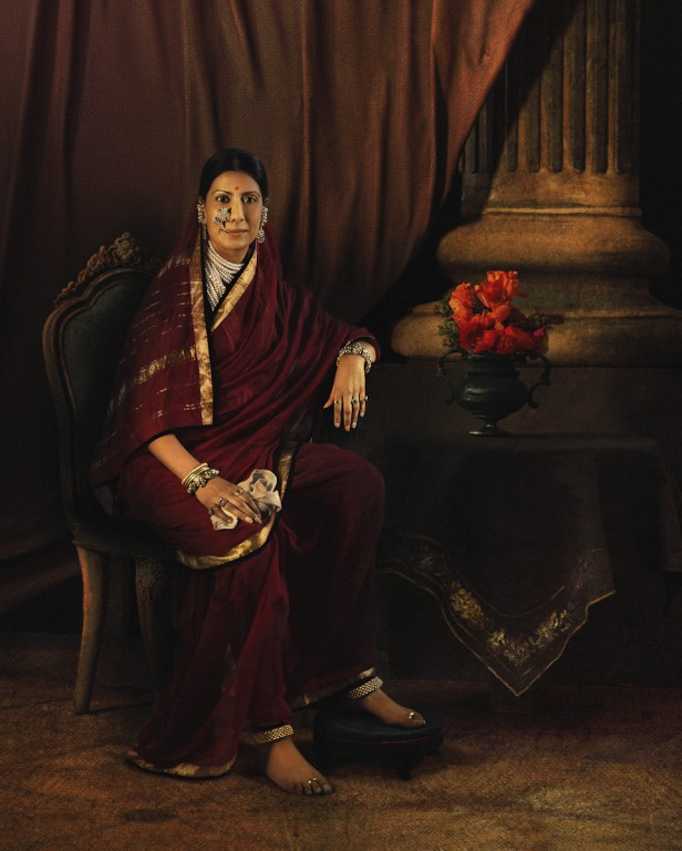 Rohit Chawla, Portrait of Chimnabai I of Baroda, featuring Sailaja Tahiliani. Archival pigment print. Courtesy Tasveer
