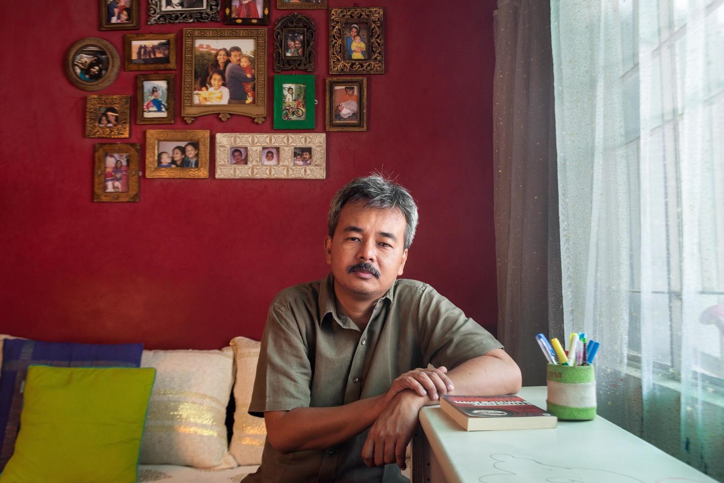 Munish Tamang is a professor of English Literature at Delhi University. Photographed at his residence in Vasant Vihar