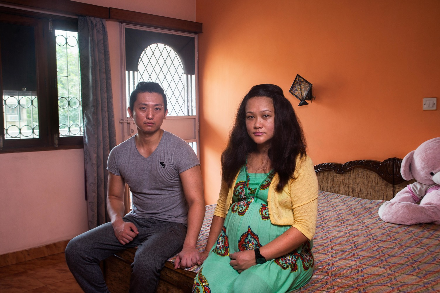 Priscella Nimmi Sereng and Jignee Sherpa, photographed at their residence in Sarita Vihar. Priscella works as an air hostess with Air India, while Jigmee works at Samsung
