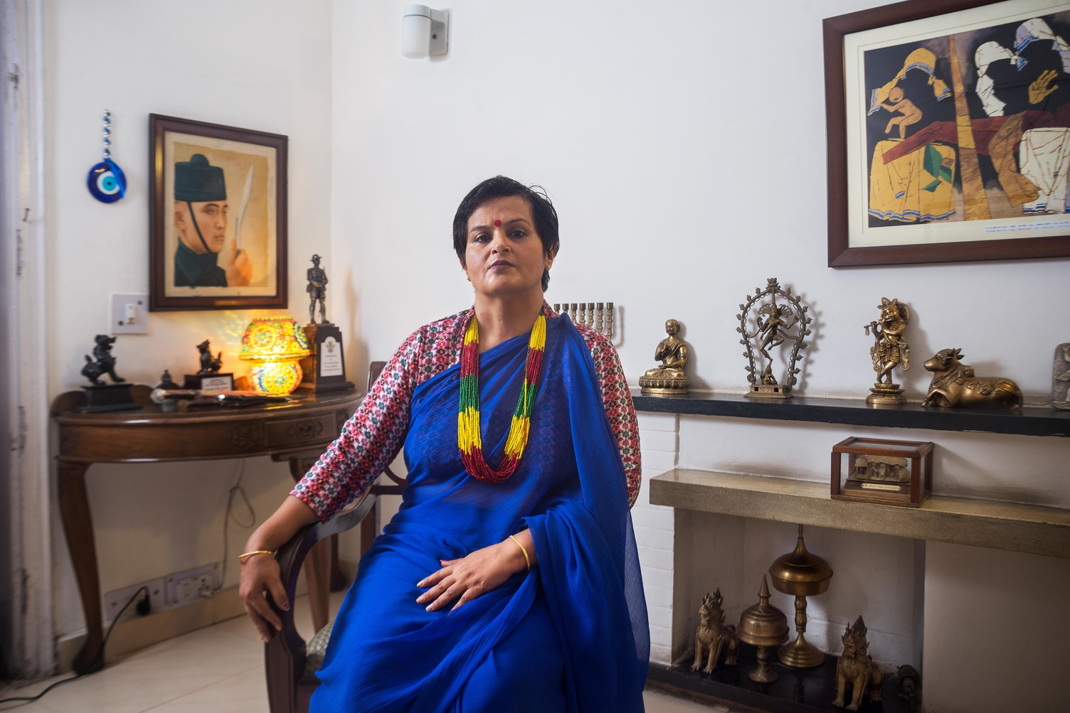 Ranjana Bhat, photographed at her residence in the Army Cantt, Dhaula Kuan